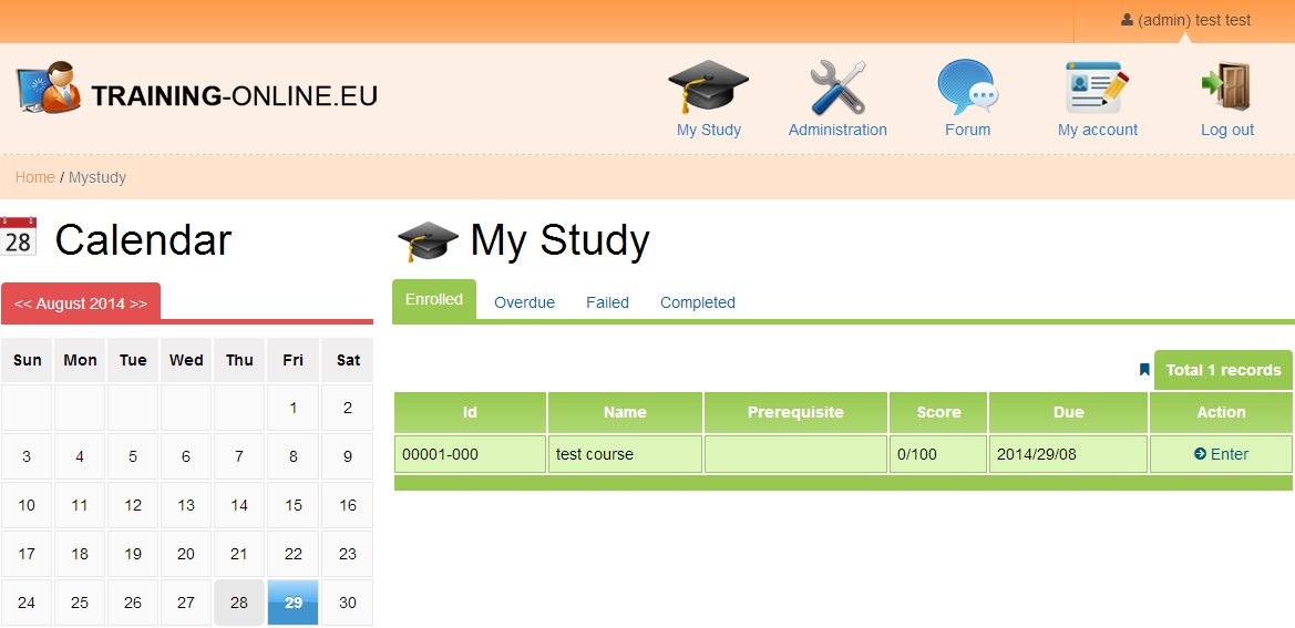 My Study - e-Learning software
